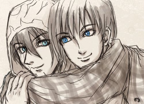 Jace wear a scarf with Kallist: doodling from Twitter meme