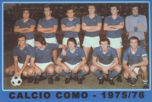 Calcio Como - Team picture for the 75/76 season. Unfortunately they finished the season second bottom of Serie A so were relegated into Serie B.