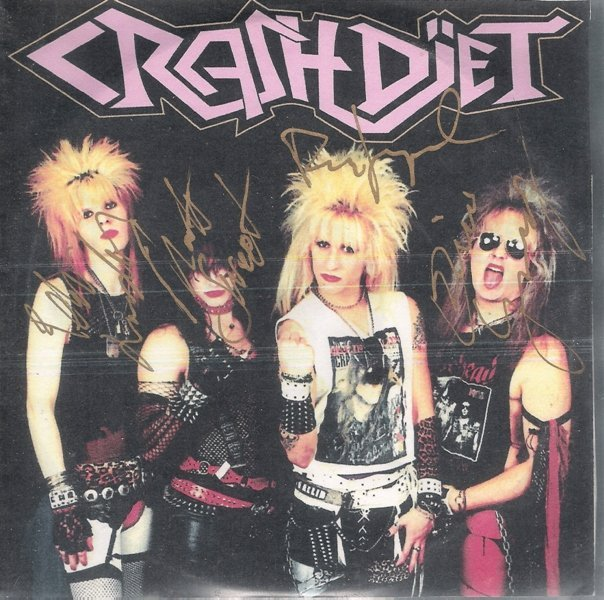 CRASHDÏET demo from 2003. Only 500 copies of this EP were pressed. Here's a picture of one of them, signed by all Crashdïet members.  Tracklisting: 1. Gimme What I Need - 2. Out of Line - 3. Queen Obscene - 4. We Play It, You Scream It - 5. Miss Pain - 6. California White Picture & info from Crashdïet's biggest fanpage on Facebook.