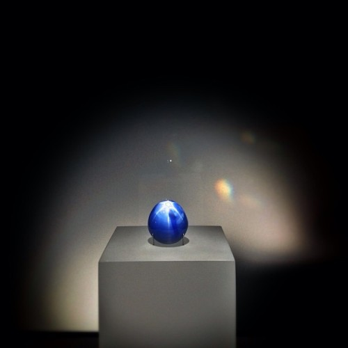 The Star of Lanka, the six rayed blue sapphire.  Get ready for Earth Sciences Weekend on May 18, 19, 20 at the Museum! We'll be posting special photos all week!