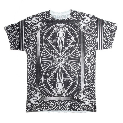 New on site! www.dylsings.com #deadheart #nyc #black #card #tee! #allover #print #streetfashion #style #menswear #tshirt #dylsings