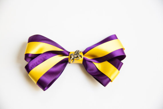 Purple, gold & bold hair bow sugar! submitted by: Jackie