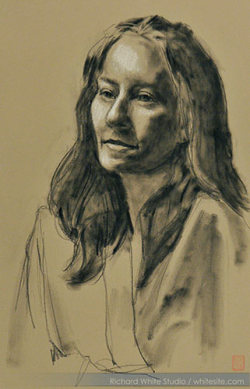 Study 1450  Pastel on toned paperby Richard White