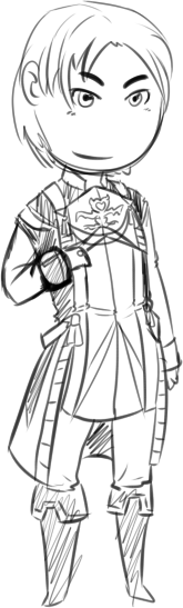 more tiny people sketch this is Sasarai of suikoden :U