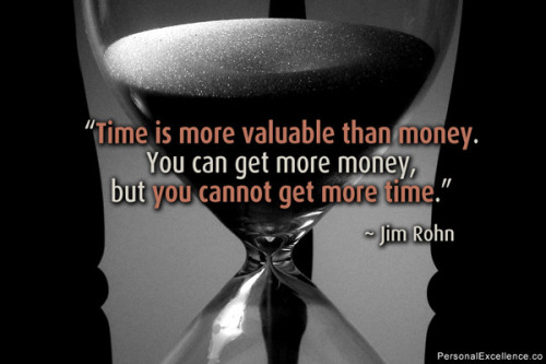 "Time, the Most Precious Commodity    It has been said, by a great mind, that, ""Time is money"". That great mind was that of Benjamin Franklin who, undoubtedly, is one of the greatest examples of economical time use that we now possess. Financial wealth is an idea that most cling to without foregoing a cent out of place, yet anyone can regain money. Can you regain time lost or spent? Unfortunately not, and even more so unfortunate, is that people do not understand the value of each minute of the day, and would sooner waste their time doing some frivolous and unnecessary thing than spend it wisely to progress themselves in some other more important manner.    Math, statistics and figures are often the best examples to demonstrate to those who have not mulled such things over. Say, you spend five extra minutes a day in the shower (doing whatever it is you may do, whether standing doing nothing, or singing, etc.). What is there that you can do in the shower with those extra five minutes other than what a shower or bath is already intended? If you add up all of those five minute increments, every day, for ten years (figuring 365 days a year, forgetting leap year for the sake of our sanity), you would be left with 18,250 minutes, or roughly 305 hours, or roughly 12 whole day's worth of time that could be better spent. If, figuring a lifespan of 85 years, with 10 of those years being forgone to childhood activities, you would be left with nearly 95 days.    Think of the opportunities you could make for yourself, or for the benefit of others, with ninety-five wholesome day's worth of time, and that's only figuring five minutes a day- not including the possibly thirty spent at the dinner table after eating, or staring off into space, or what have you.     Time is a very precious commodity and is not one to be expended if it can be helped. All of the great men and women of this Earth understand the value of time, and what can be done with it. If it were not so important, why would we as intelligent beings give this intangible idea a sense of measurement? We can see money. We can see distance. Yet, we cannot see or feel time, yet we have it, and it is constantly disappearing. Do something with your time, whatever it may be, so that you or someone deserving benefits from its use.     Your clock is ticking. Picture courtesy of *www.PersonalExcellence.co*"