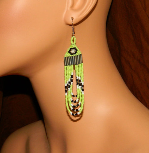 Earrings available from Lakota Charm on Etsy