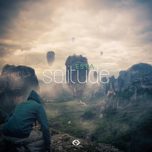 CD cover version #graphicdesign #cdcover #single #art #artwork #esta #solitude #typography @beatsbyesta