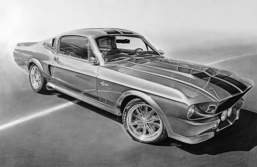 motoriginal:  Graphite drawing of Eleanor.