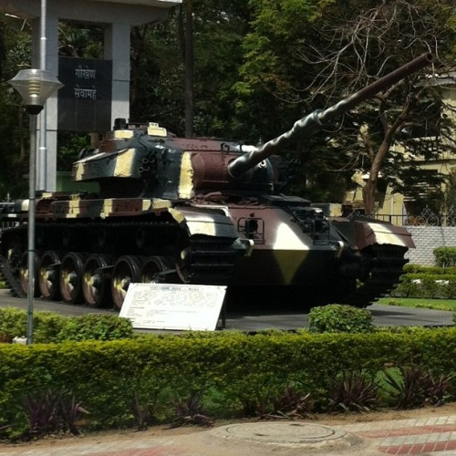 An Indian #Military #Tank in front of a training academy by the airport at #chennai #madras #tamilnadu #india