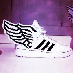 "Thoughts on this adidas Originals Jeremy Scott ""Pixel"" Wings 2.0? (at freshnessmag.com)"