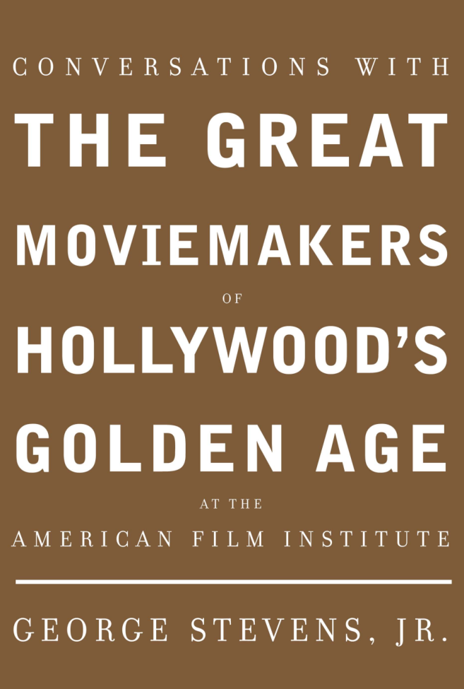 "Required reading for filmmakers and cinephiles, screenwriters and writers, movie buffs and film aficionados: Conversations with the Great Moviemakers of Hollywood's Golden Age: At the American Film Institute. This is priceless: HAROLD LLOYD RAOUL WALSH FRANK CAPRA MERVYN LEROY GEORGE FOLSEY WILLIAM WYLER GEORGE CUKOR BILLY WILDER JOHN HUSTON RAY BRADBURY ELIA KAZAN FRED ZINNEMANN DAVID LEAN STANLEY CORTEZ ROBERT WISE RICHARD BROOKS STANLEY KRAMER HAL WALLIS JEAN RENOIR FEDERICO FELLINI INGMAR BERGMAN SATYAJIT RAY Acknowledgments   The first book to bring together these interviews of master moviemakers from the American Film Institute's renowned seminars—a series that has been in existence for almost forty years, since the founding of the Institute itself. Here are the legendary directors, producers, cinematographers and writers—the great pioneers, the great artists—whose work led the way in the early days of moviemaking and still survives from what was the twentieth century's art form. The book is edited—with commentaries—by George Stevens, Jr., founder of the American Film Institute and the AFI Center for Advanced Film Studies' Harold Lloyd Master Seminar series.      Here talking about their work, their art—picture making in general—are directors from King Vidor, Howard Hawks and Fritz Lang (""I learned only from bad films"") to William Wyler, George Stevens and David Lean. Here, too, is Hal Wallis, one of Hollywood's great motion picture producers; legendary cinematographers Stanley Cortez, who shot, among other pictures, The Magnificent Ambersons, Since You Went Away and Shock Corridor and George Folsey, who was the cameraman on more than 150 pictures, from Animal Crackers and Marie Antoinette to Meet Me in St. Louis and Adam's Rib; and the equally celebrated James Wong Howe.      Here is the screenwriter Ray Bradbury, who wrote the script for John Huston's Moby Dick, Fahrenheit 451 and The Illustrated Man, and the admired Ernest Lehman, who wrote the screenplays for Sabrina, Who's Afraid of Virginia Woolf and North by Northwest (""One day Hitchcock said, 'I've always wanted to do a chase across the face of Mount Rushmore.'""). And here, too, are Ingmar Bergman and Federico Fellini (""Making a movie is a mathematical operation. It's absolutely impossible to improvise""). These conversations gathered together—and published for the first time—are full of wisdom, movie history and ideas about picture making, about working with actors, about how to tell a story in words and movement.    A sample of what the moviemakers have to teach us: Elia Kazan, on translating a play to the screen: ""With A Streetcar Named Desire we worked hard to open it up and then went back to the play because we'd lost all the compression. In the play, these people were trapped in a room with each other. As the story progressed I took out little flats, and the set got smaller and smaller.""  Ingmar Bergman on writing: ""For half a year I had a picture inside my head of three women walking around in a red room with white clothes. I couldn't understand why these damned women were there. I tried to throw it away… find out what they said to each other because they whispered. It came out that they were watching another woman dying. Then the screenplay started—but it took about a year. The script always starts with a picture…""  Jean Renoir on actors: ""The truth is, if you discourage an actor you may never find him again. An actor is an animal, extremely fragile. You get a little expression, it is not exactly what you wanted, but it's alive. It's something human.""  And Hitchcock—on Hitchcock: ""Give [the audience] pleasure, the same pleasure they have when they wake up from a nightmare.""   Tweet  //  Follow @LaFamiliaFilm  //"