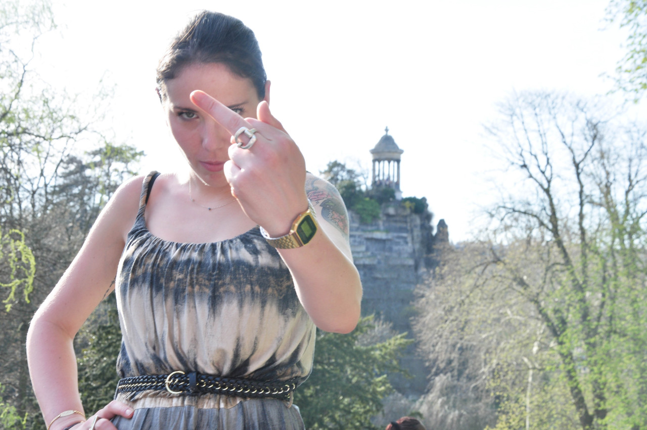 Paris - Avril 2013  #buttes-chaumont #paris #sun #sunny #soleil #fuck #dress #girl