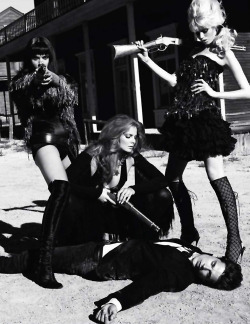 labsinthe:  Abbey Lee Kershaw, Crystal Renn & Eniko Mihalik Vogue Paris editorial 'Pussy West' by Terry Richardson