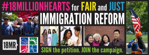18mr:  Are you a supporter of fair and just immigration reform that offers meaningful opportunities to all members of our communities? We've partnered with the Asian American Center for Advancing Justice to elevate the voices of Asian Americans and Pacific Islanders and make it clear that we care about this issue. All 18 million of us. Join us!
