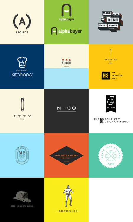 weandthecolor:  Logo Design A collection of various logos created by Mike McQuade for several clients and self-initiated projects. via WE AND THE COLORWATC//Facebook//Twitter//Google+//Pinterest