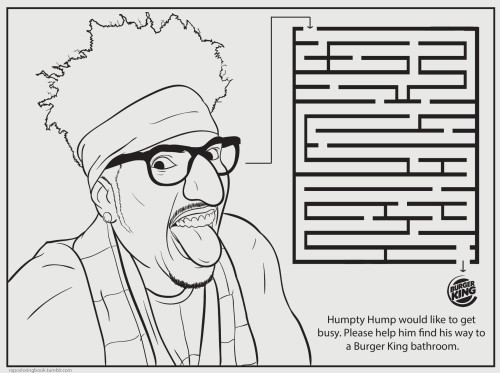 rapcoloringbook:  Click here to download the Humpty Hump maze activity page. Print it out. Color it. Complete it. Listen to this while you do so.