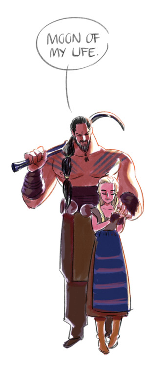 assporn:  onlyparkland:  GoT - Khal Drogo & Daenerys Targaryen  #I ship this so hard and I've only seen episode one