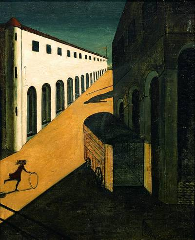 mycrofteas:  Giorgio de Chirico:  Mystery and Melancholy of a Street  |  favorite artworks 2/100