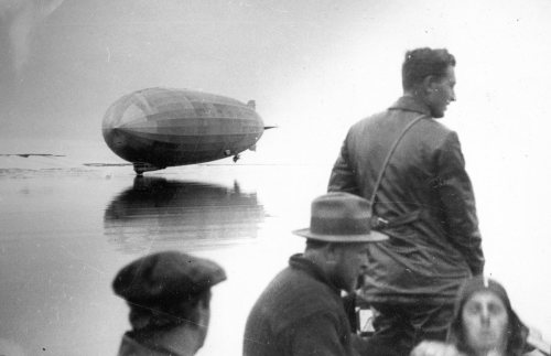dirtyriver:  Graf Zeppelin (LZ-127) in the Arctic, July 27, 1931, via Monkey Fist's Maritime Monday.