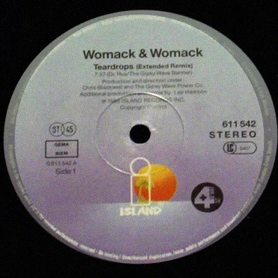'Womack & Womack - Teardrops (Extended Remix)' by Womack & Womack is my new jam.
