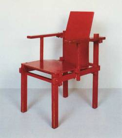 aqqindex:  Gerrit Rietveld, Chair with Curved Seat, Circa 1925