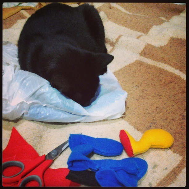 godsinmyroomarchive:  I'm worked all the day… #black #cat #sleeping