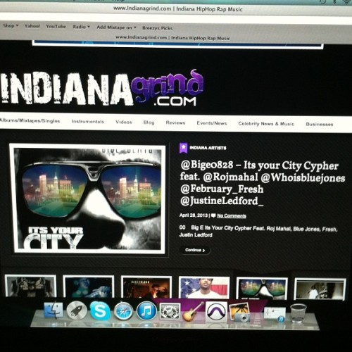 Go listen & download Big E @bige0828 it's ur city cypher on Indianagrind.com.  S/o to @indianagrind