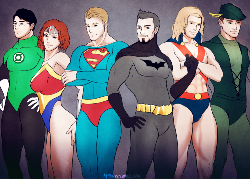 a-hero-lies-in-you:  Avengers DC Halloween by MeTaa