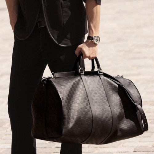 Damier Infini Keepall 55 Bandouliere by Louis Vuitton
