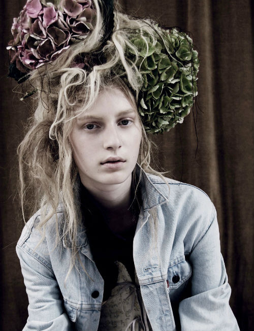 "julia nobis in ""rewind"" for dazed & confused october 2010, photographed by ben toms"
