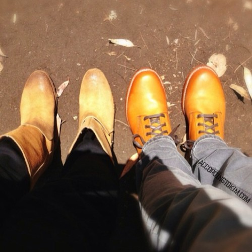 His & Hers : Wolverine Thousand Mile Boots & Margiela. Footwear for the trek to the Eames house 😄