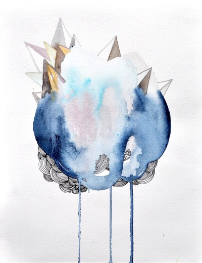 kaylanewell:  cloud house, 11x8.5""