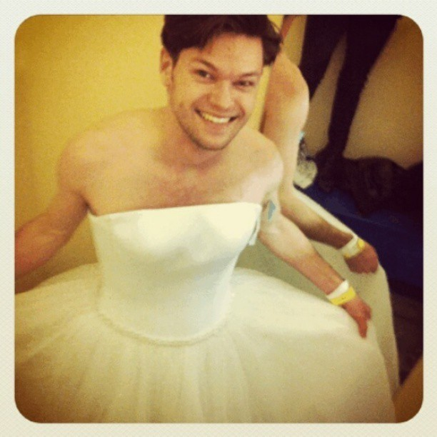 For my loyal followers. Do I make a beautiful bride? #weddingdress #bridalgown #sexy #guy #so #gay #dapper #highandtight #thyrequiemphotos #questionablebehavior