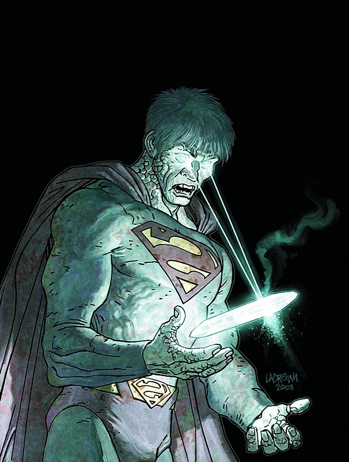 Unused cover illustration for Action Comics #873 by José Ladrönn
