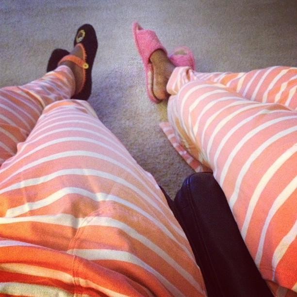 Twinsies in our Target pajama pants! cc: @3aktionjackson3 #MommyAndMe #ThursdayTurnUp #dopekickshotchicks #nooneinthelivingroomgotswaggalikeus bcc: @ashb_knows @rhardydesign #getIGpoppin