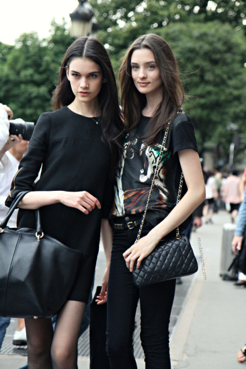 modelsjam:  Isabella Melo and Carolina Thaler, Paris, July 2012