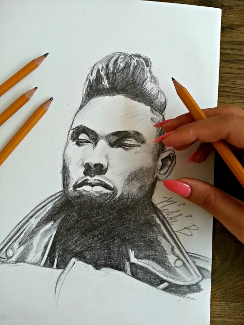 nikkilovesmilk:  My Miguel drawing. Follow me on instagram: artandchampagne