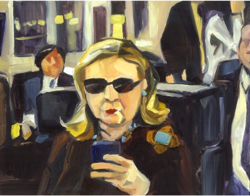 imwithkanye:  Texts From Hillary Clinton 2012, 2013  BENJAMEME .007 Oil on vellum  [via: benjamemes]  Whaaaaaat!