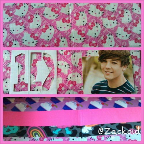 zackoid:  Ahem…..working on a wallet for a cuzin of mine. I just hope she hasn't changed favorites. Haha