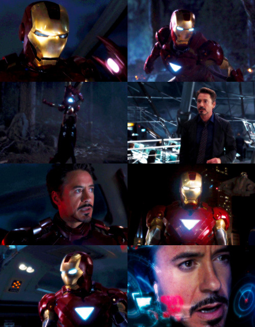 "herocrux:  ""Iron Man. That's kind of catchy. It's got a nice ring to it. I mean it's not technically accurate. The suit's a gold titanium alloy, but it's kind of provocative, the imagery anyway"""