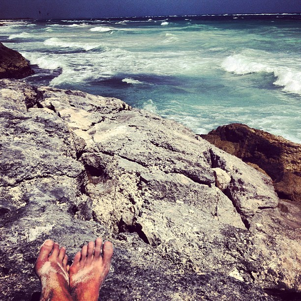 and when things get rocky, you climb and get an even better view #tulum #mexico #caribbean #beachlife #everystring