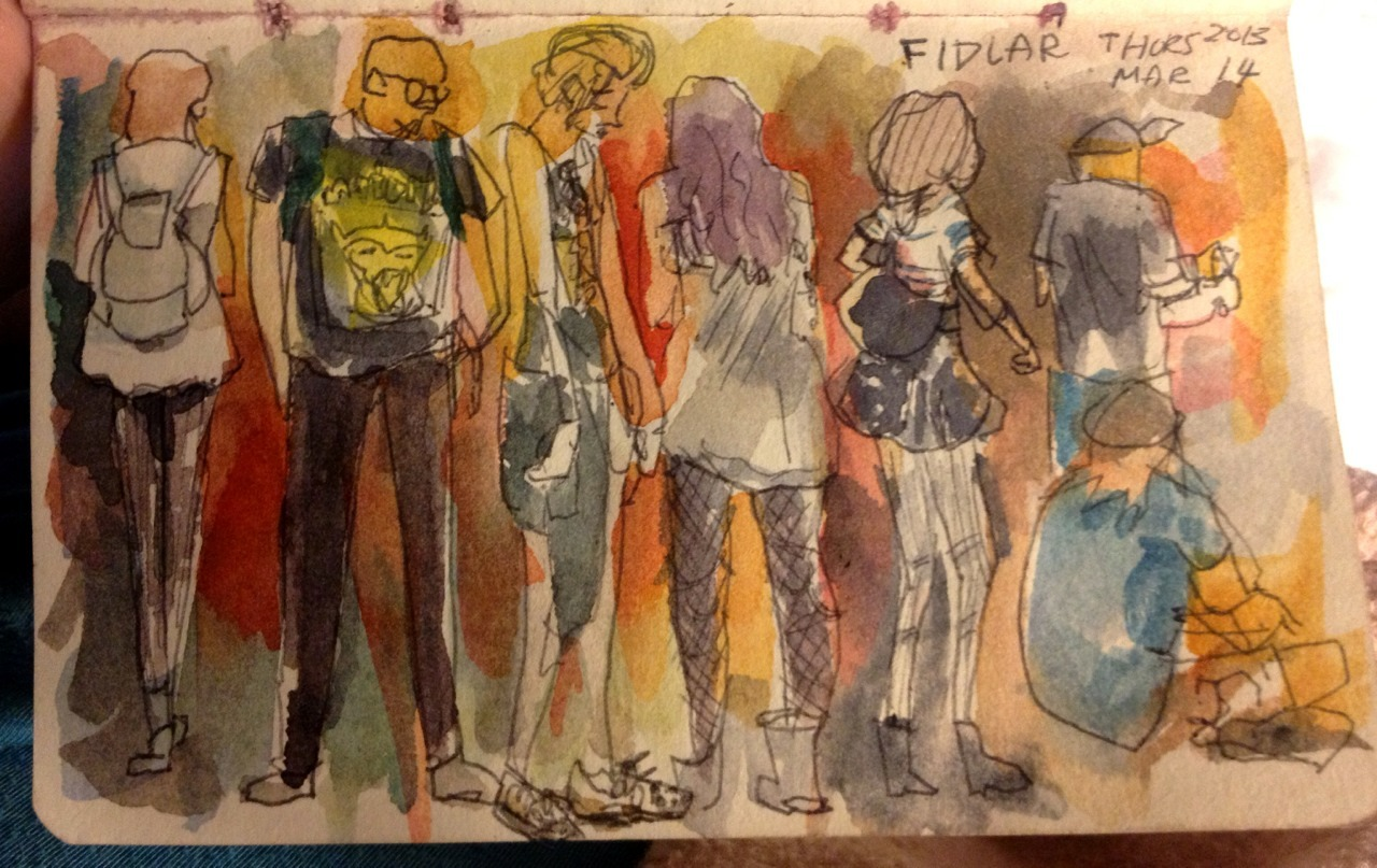 Fashion sketches from the FIDLAR show