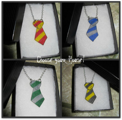 """House Tie"" Necklace by skotkincreations"