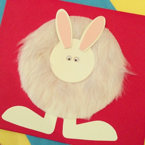 Happy Easter Card #bunnie #easter #cards #fluffy #3d