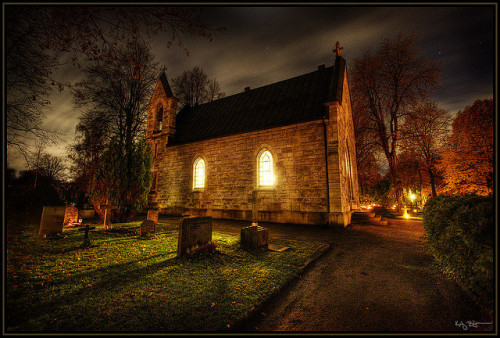 enchanting-autumn:  Church by Kaj Bjurman on Flickr.