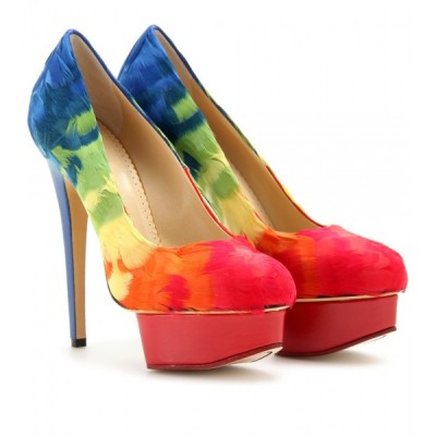 Charlotte Olympia pumps   ❤ liked on Polyvore (see more platform high heels)