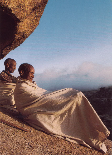 kicker-of-elves:  village elders above Debre Sina, Eritrea    National Geographic June 1996  Robert Caputo