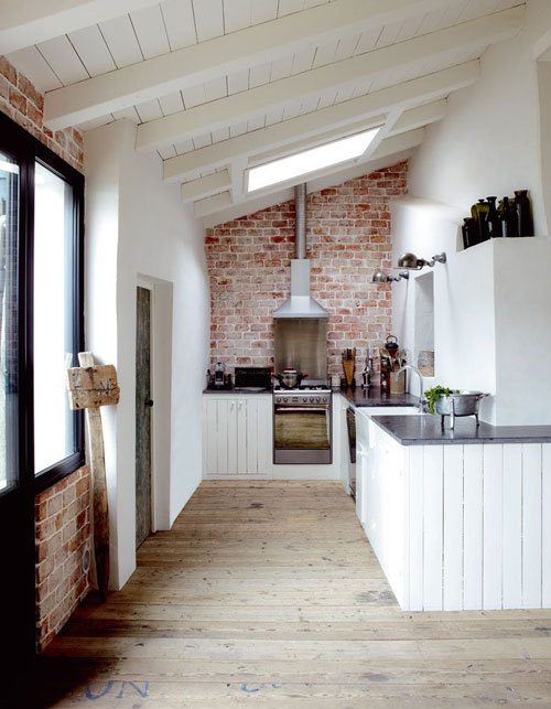 Second Kitchen. Check out that reclaimed floor!