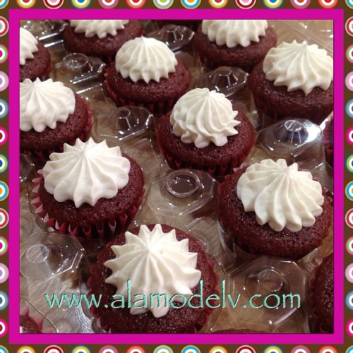 Lined up, frosted & ready! Delicious mini red velvet cupcakes. You can't stop at just one!   Yummy gluten free, vegan, corn free, rice free & soy free and made with 100% organic ingredients.   #bakery  #cornfree  #celiacawarness #foodporn #glutenfree  #lasvegas #livingglutenfree  #organic #purevegan #plantfoodforpeople #ricefree #soyfree #vegan #vegas #veganfood #veganmofo #vegansofig #veganvegas #veganbakery #vegancookies #veganfoodshare  #veganspin  #healthyeah #FoodNetworkFaves #redvelvet #cupcakes #webstapick