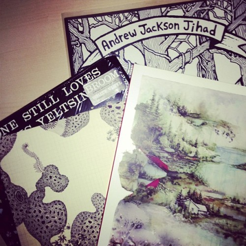 Already finished today. #vinyl #boniver #andrewjacksonjihad #ajj #someonestilllovesyou #borisyeltsin #theshins (at The Barnes Household)